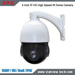 4 pouces de 18x 1080p HD IP IR haute vitesse moyenne/caméra Dome