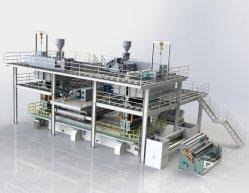 SMS 3200mm Nonwoven Fabric que hace la máquina para fabricar bolsas