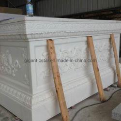 La Chine l'albâtre/Pure naturelle de marbre blanc de calcite de pierre à sculpter l'image de secours pour la décoration de la construction bâtiment House Hotel