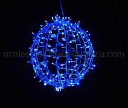 3D Commercial decorazione di Natale stagionale illuminazione sfera e luce sfera