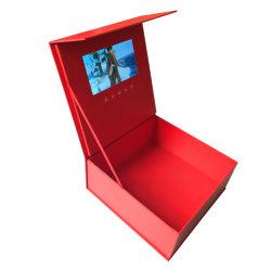 2GB, 7 pulgadas de cuadro de video HD Hardcover Folleto Vídeo Reproductor para mostrar publicidad