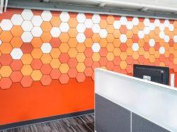Zeskant bouwmateriaal 100% Polyester Fiber 3D wandpaneel voor Decoratie