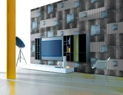 홈 장식을 위한 독특한 3D 메탈 디자인 비닐 배경화면