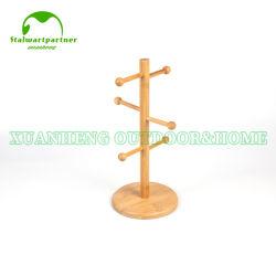 Бамбук кружка дерево для монтажа в стойку для приготовления чая и кофе Подстаканник