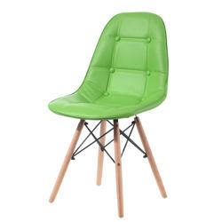 Comfortabel houten frame Beauty gestoffeerde eetkamer stoel Lounge Living Lederen eetstoel