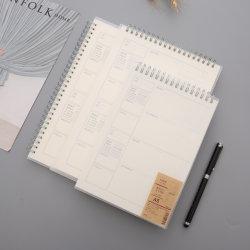 Cubierta de PVC mayorista Custom Design Week planificador diario Récord servicio de impresión portátiles