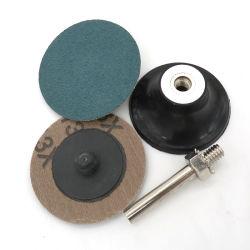 """2"""" 50mm Bloqueio do rolo de Mudança Rápida de corindo zircónio superfície verde condicionado Abservice Disco de lixa"""
