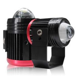 ضوء LED للدورات الآلية عدسة جهاز العرض الثنائي LED الضوء المصباح الأمامي المزدوج الألوان مصباح الضباب