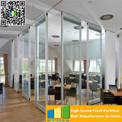 Muur van de Verdeling van het Glas van het Frame van het aluminium de Gemakkelijke Beweegbare Glijdende voor Conferentie Romm
