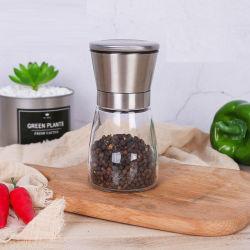 Una buena calidad Molinillo molinillo de pimienta sal y pimienta de molinillo de sal de agitador de vidrio