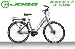 Зеленый Enegery середины двигателя 700cc города леди на велосипеде