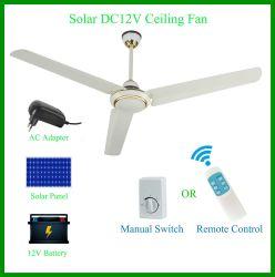 Gran potencia la energía solar 12 V DC Ventilador de techo para la ventilación interior y exterior