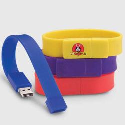 Azionamento dell'istantaneo del USB del Wristband del silicone, azionamento della penna del disco del USB del braccialetto