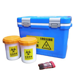 Экземпляр транспортной коробки охладителя лаборатории изолированный холодной упаковки
