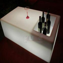 Nouvelle table de la barre a conduit les bougies de table avec la boîte de rangement