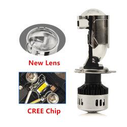 PROYECTOR H4 カー LED ヘッドランプ、超高輝度完全カットライン LED Y8 冷却ファン Mini 16000lm LED H4 カープロジェクタ LED ヘッドランプバルブ H4