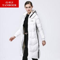 La mujer Tanboer Down Jacket chaqueta de nieve Parka untar el pato Down Jacket mujer moda ropa larga