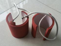 Chauffage en caoutchouc de silicone, de nappe chauffante de silicone, caoutchouc de silicone tasse avec cellule rouge foncé, fermer