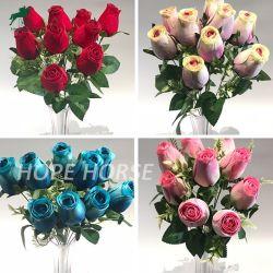 Luxe romantische bewaard gebleven Rode Roze kunstmatige Bloemen Gift Fake Rose Home Party Decoratie