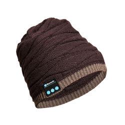 Casque sans fil Bluetooth Beanie Hat Music Soft Hat avec haut-parleurs stéréo, l'hiver Knit hat micro sans fil pour les mains libres Hommes Femmes ESG13884