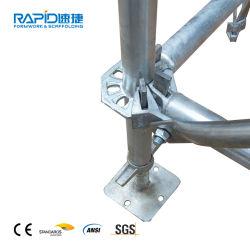 頑丈な構築の足場のための形式によって電流を通される足場支柱の支注の支柱