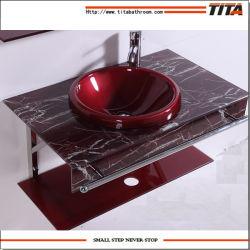 Casa de banho dissipador de vidro/bacia de lavagem/Lavatório Modelos T-7