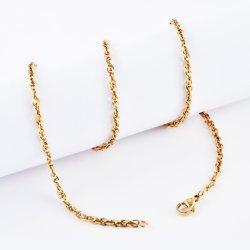 Cadeau de Noël en acier inoxydable plaqué or Chaîne de cheville Bracelet plat polonais Fashion NECKLACE Bijoux