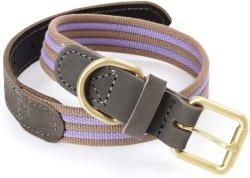 Collare di cane genuino della tela di canapa del collare della cinghia di cuoio