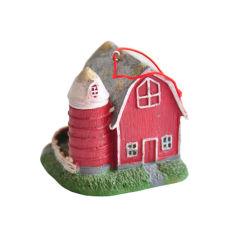 À la main la pendaison de couleur rouge Birdhouse Jardin Chalets pour la décoration de jardin