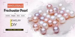 Ronde d'élevage en eau douce de gros /Drop/hors-série/bouton bijoux en perle pour bricolage
