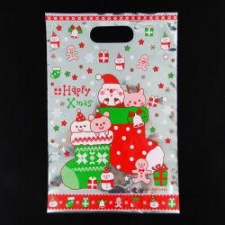 Saco de plástico de Natal com pega