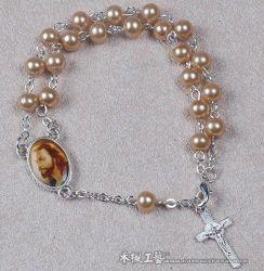Pearl Imitation Rosaire Bracelet