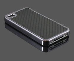 Жесткий крышки картера Карбон Chrome 4 для iPhone 4G 4s