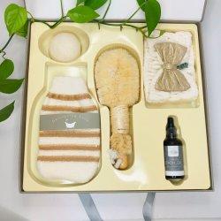 Gant de bain bambou Brosse à ongles et éponge de konjac défini