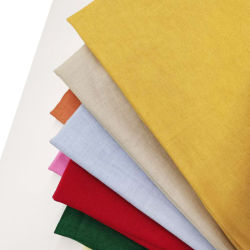 Neue Artikel Mode Pure Color Woven 55 Leinen 45 Rayon Leinen Rayon Leinen Viskose Stoff
