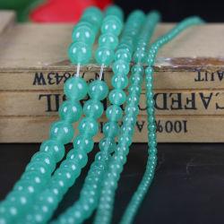 Perlas de Ágata azul para la fabricación de joyas bisutería