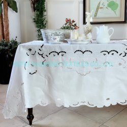 Broderie Anglaise белый работы вышивка на немецком языке традиционной вышивки, коврик, скатертями, шторки, покрывалами, стеганых матрасов крышки крышка стола одеялом случаях кровать в мастерской