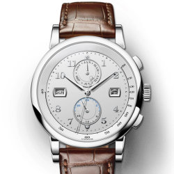 Curtidos en fábrica Vegan Romanson grande hombre moderno hombre reloj de pulsera de cuero