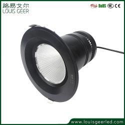 Runder vertiefter LED unten heller Innenaluminium 30W der Fabrik-direktes Zubehör-dekorativer Deckenleuchte-PFEILER LED Downlight