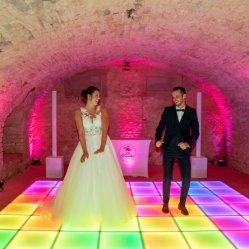 ديكور مسرح كامل الألوان LED طابق الرقص التفاعلي
