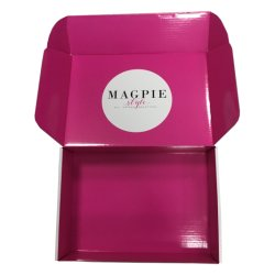 백색 덮개 패킹을%s 물결 모양 광택 있는 박판 출하 포장 상자