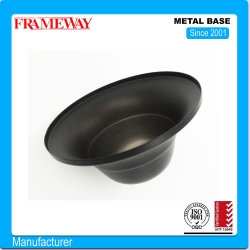 Pendent Lamp Steel을 위한 OEM/ODM 제조 조명 부품 금속 베이스 판금 회전 검은색 페인트 1.4