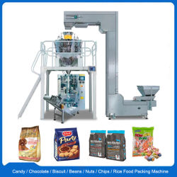 L'arachide/riz/fèves de café/thé/bonbon/Chips de pommes de terre/collations/aliments Vffs automatique machine de conditionnement d'emballage vertical