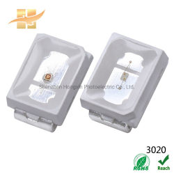 20 مللي أمبير 3 فولت 3020 SMD Cool White Color PC Amber LED ورقة بيانات الرقاقة لإضاءة LED