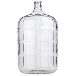 مخزن زجاجات زجاجية من نوع Carboy سعة 1 جالون 5 جالون 6 جالون JAR