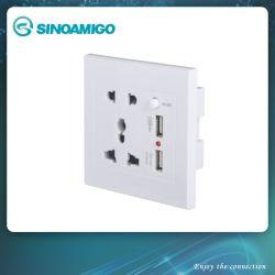 Универсальный+2контактный разъем с 2 зарядное устройство USB настенное зарядное устройство USB