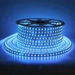 Bande LED RVB Lumières 5050 AC220V AC110V 50m 100m Multicolor rouleau souple IP65 étanche à l'extérieur des bandes de lumière LED multicolore RVB