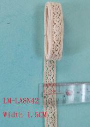 Vêtements Accessoires couleur détail bricolage Artic Drawnwork Chemical Trim Woven Tissu de fer ondulé broderie crochet 15mm 1.5cm coton naturel Rouleau de dentelle