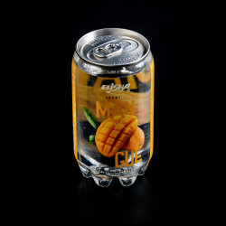 350ml PET baja en azúcar sabor Mango puede beber agua de soda/.
