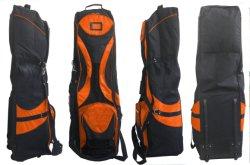 Preço por grosso Grande Capacidade saco de golfe almofadado Tampa de viagem com 2 rodas